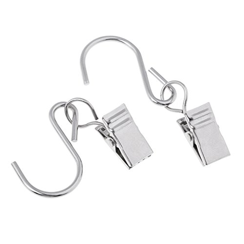 10Pcs Heavy Duty Vorhang Clips Metall Klammer Haken Hängende Vorhang Clips Duschvorhang Klammer, Splitter