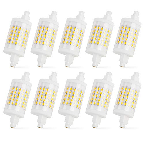 MENGS 10-er Pack R7s LED Lampe 78mm 10W Dimmbar LED Leuchtmittel J78 Linear Licht 4000K Naturalweiß 1000lm Ersetzt für 80W Halogen Flutlicht AC 220-240V