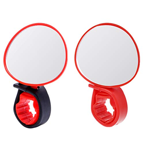 SPECCHIETTO ROSSO Vintage BICI Rear View Handlebar Mounted Mirror Touring Kids