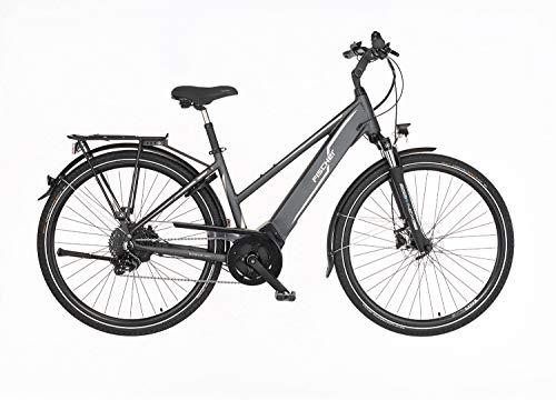 FISCHER Damen - Trekking E-Bike VIATOR 5.0i, Elektrofahrrad, grau matt, 28 Zoll, RH 49 cm, Brose Drive C Mittelmotor 50 Nm, 36 V Akku