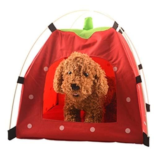 TAIQIXI Haustier QIX Im Freien Qualitäts-Oxford-Tuch Faltbarer Sonnenschutz Mittleren Und Kleinen Hund Zelt Nest, Dedicated Zwinger Cat House (blau) Schlafen (Color : Red)