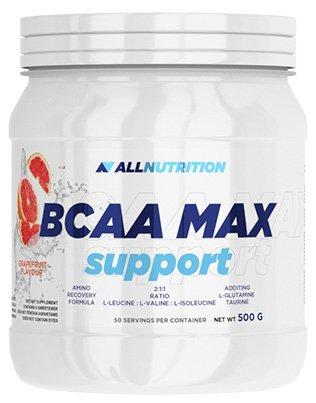 ALLNUTRITION Bcaa Max Support Aminos Aminosäure BCAA L-Glutamin Taurin Bodybuilding 500g (Lemon - Zitrone)