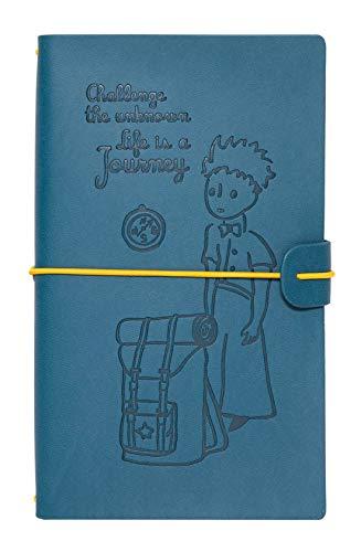 Grupo Erik Taccuino pelle sintentica Il piccolo Principe con due quaderni, porta tessere e tasca espandibile con chiusura, 19,6x12 cm, ideale come diario di viaggio, diario di bordo, notebook quaderno