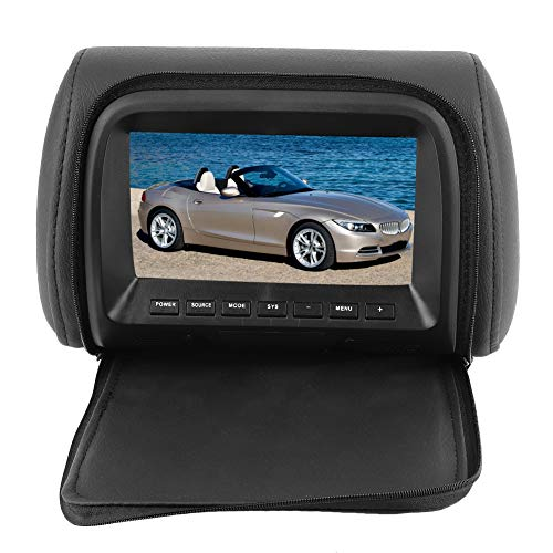 Monitor del reposacabezas, monitor LCD del reposacabezas de pantalla ancha para automóvil de 7 pulgadas, reproductor de video MP5 DVD, control remoto 12V, reproductores de video para reposacabezas