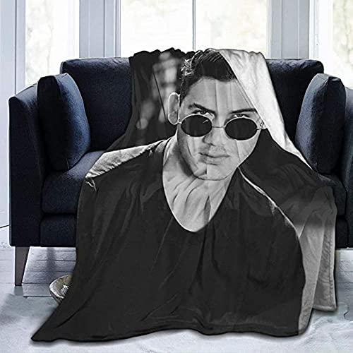 HUA JIE Al-Ej-An-Dr-O Sp-Ei-Tz-Er Soft Flannel Throw Blanket Man Stylish Quality Fabrics All Season Warm Cozy Plush Microfiber Hypoallergenic Blankets Zum Nickerchen Couch Chair