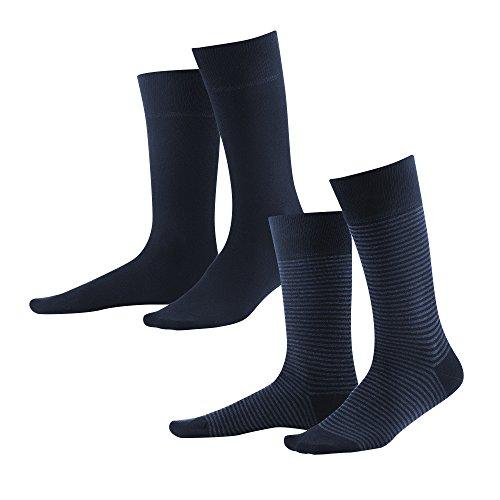 Living Crafts Socken, 2er-Pack 43-46, dark navy/indigo melange