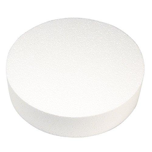 Rayher Styrofoam Disc, 30cm x 7cm, Bianco