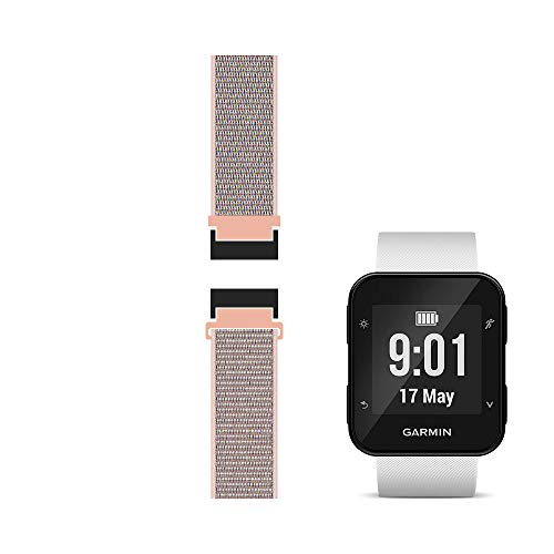 C2D JOY Compatible with Garmin Forerunner 35 Watch Band Replacement (Adapter, Screws and Screwdriver) Sport Mesh Strap Nylon Weave Garmin 35 Running Watch Accessories Watchband - 12#, S/5.0-7.0 in.