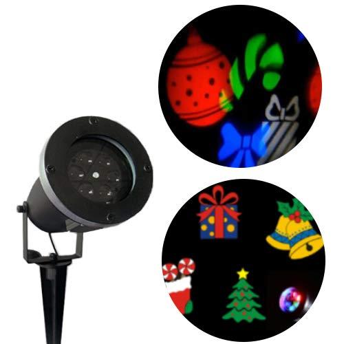 Proiettore di luci di Natale con motivi colorati, illuminazione di Natale, luci per esterni, installazione semplice