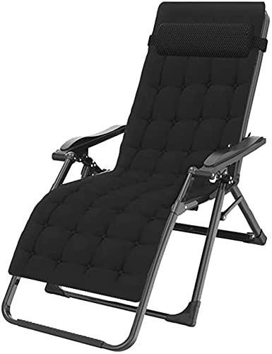 Sillas plegables al aire libre reclinable Silla de salón de gravedad cero, sillas plegables ajustables Reclinación reclinable con reposacabezas, Patio interior al aire libre Piscina Soporte 330 libras