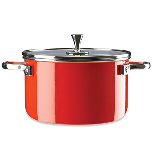 KSNY All in Good Taste Casserole, 4 Quart, Red