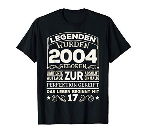 17. Geburtstag 17 Jahre Junge Mädchen 17-jährig Geschenk T-Shirt