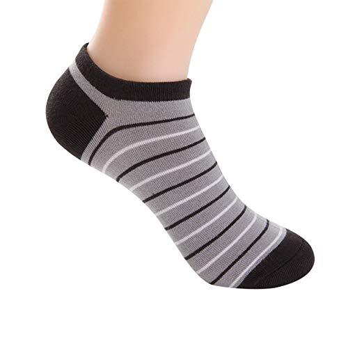 IFOUNDYOU Sommersocken für Herren, Bambusfaser Bootssocken Streifen Mesh Unsichtbar Socken Volltonfarbe Flacher Mund Deodorant Dünner Abschnitt Sport Socken