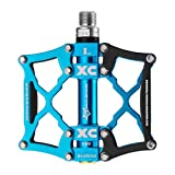 ROCKBROS Mountain Bike Pedals Flat Pedals Mountain Bike Pedals Platform Cycling Sealed Bearing Aluminum 9/16 Bicycle Pedals for MTB Mountain Bike
