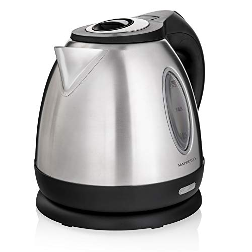 Mixpresso Stainless Steel Electric Kettle, Cordless Pot 1.2L Portable Electric Hot Water Kettle, 1500W Strong Fast Boiling Pot, Water Boiler, Electric Tea Kettle With Boil Dry Protection