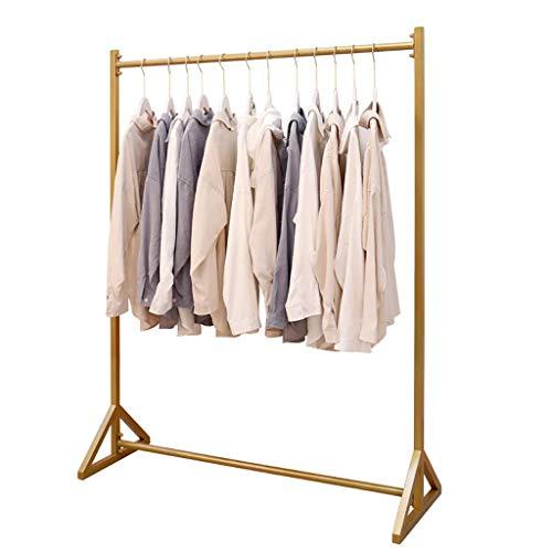 DGDG Goldene Einzelhandel Kleidung Display Rack Ständer Garment Organizer Wschetrockner Gestell for Haushalt, Gewerbe, Bügeleisen Fertig (Size : 100 * 40 * 150cm)