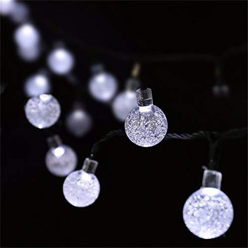 Luces de cadena solar 7M 50leds bola pendiente secuencia solar del LED Luces al aire libre de la calle de la guirnalda adorno Decoraciones de fiesta de la boda del árbol del jardín de vacaciones xams