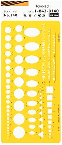 Uchida drawing machine Modèle n ° 140 règle de Combinaison 0140