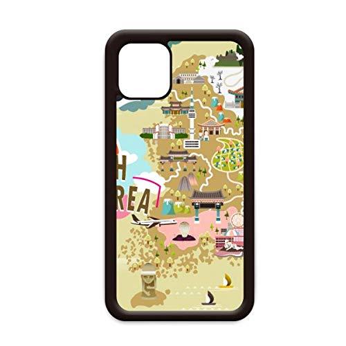 Zuid-Korea Kaart Liefde Reizen voor Apple iPhone 11 Pro Max Cover Apple mobiele telefoonhoesje Shell, for iPhone11 Pro
