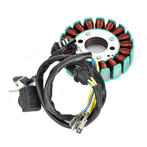 Qiilu 5 Coil Magneto Stator, 18 Pole Coil 5 Generator Magneto Stator Fit for 200C 250CC CG Dirt Pit Bike ATV Quad Parts