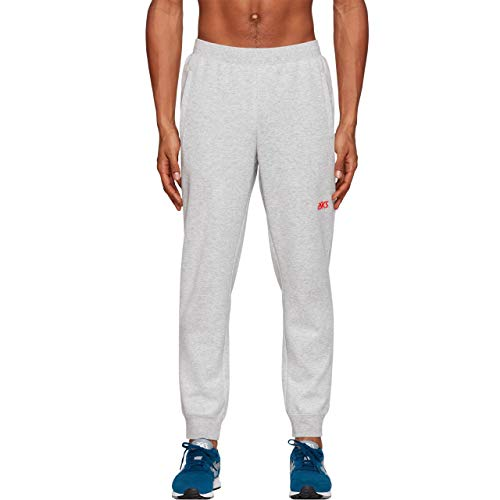 ASICS Men's Regular Track Pants (2191A145.020_MID Grey Heather_L)