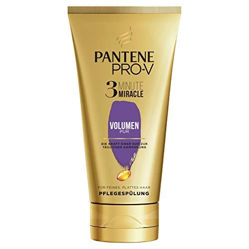 Pantene Pro-V Volumen Pur 3 Minute Miracle Pflegespülung, 150ml, Conditioner, Haarpflege Glanz, Volumen Conditioner, Verleiht dem Haar Volumen, für Sichtbar Gesünderes Haar, gold