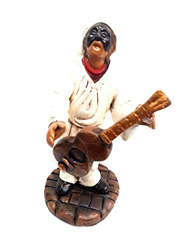 figura colonia Barril guitarra Familia de los 12cm aprox. Terracota con diferentes posiciones y objetos por maestros artesanos de SAN gregorio armeno Tor belén SAN G. armenio ricevi Un llaver