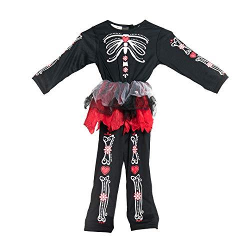 Bodysocks® Disfraz del día de los Muertos para niñas (2-4 años)