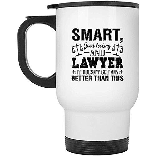 Little Yi Cooler intelligenter schöner Rechtsanwalt-Edelstahl-Becher, Reise-Becher (weißer Becher)