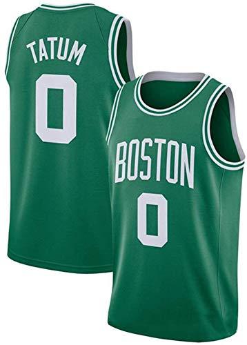 ASSD Camiseta de baloncesto de la NBA Boston Celtics 0# Tatum bordada de malla para hombre (color: verde, talla: XL)