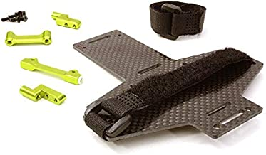 Integy RC Model Hop-ups C26870GREEN Machined Battery Tray w/Composite Plate for Vaterra Twin Hammers 1.9 Rock Racer