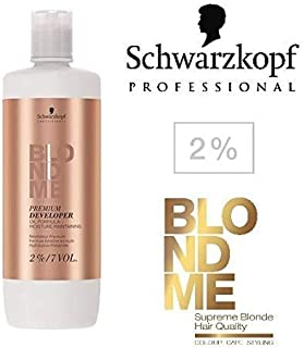 Schwarzkopf Professional Blonde Me Premium Developer Oil Formula 33.8 oz / 1000ml (2% ; 7 Volume)