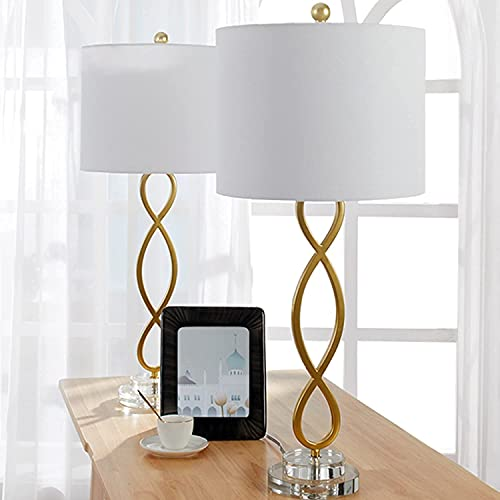 Maxax Table Lamps Set of 2, 3-Way Dimmable Buffet Lamps for Living Room, Bedside Nightstand Lamp for...