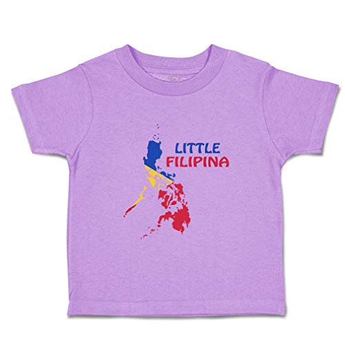 Custom Baby & Toddler T-Shirt Little Filipina Cotton Boy & Girl Clothes Funny Graphic Tee Lavender Design Only 4T