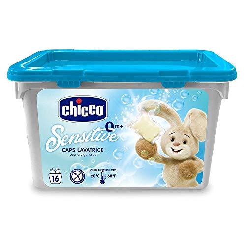 Chicco Sensitive Detersivo Dosato Lavatrice, 16 Caps