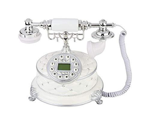 gujiu Teléfono Fijo con Cable, teléfono de Escritorio con Cable con Cable de Llamada con identificador de Llamadas Cancelación de Ruido Teléfono Antiguo para el hogar/Hotel/Oficina