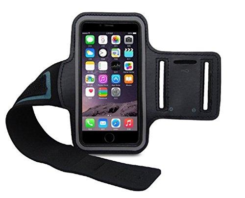 CoverKingz Sportarmband für Apple iPhone 6S Plus/iPhone 6 Plus - Armtasche mit Schlüsselfach iPhone 6S Plus/6 Plus - Sport Laufarmband Handy Armband Schwarz