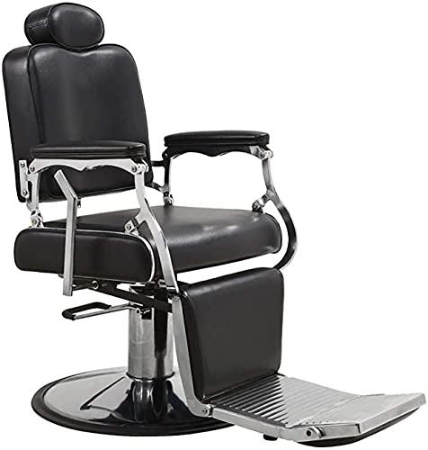 Sillón de barbero reclinable hidráulico de uso múltiple, sillón de peluquero de salón hidráulico Sillón de peluquero de salón resistente Sillón de peluquero reclinable hidráulico de lujo Afeitado, eq
