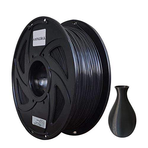 Filamento ABS para impresora 3D, precisión dimensional +/- 0,03 mm, bobina de 1 kg, 1,75 mm, color negro