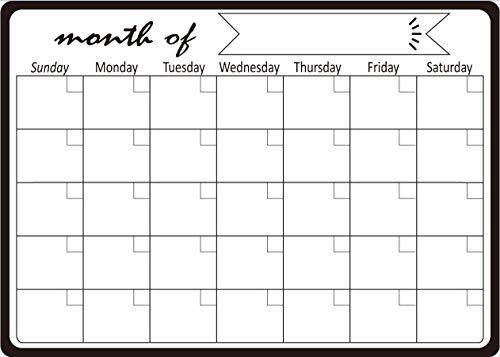Gpure Agenda 2021 Mes Vista Calendario Magnética Pizarra a3 para Puerta de Nevera DIY 100000 Veces de Uso Adhesivo de Goma Calendario Plan para Puerta de Metal para Anual (C)