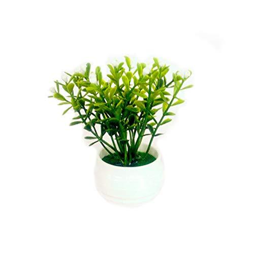 PINBinyee Plantas artificiales para interiores en macetas, diseño de plantas artificiales en macetas, para decoración del hogar, 2 unidades