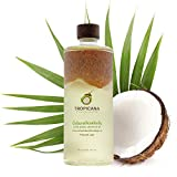 Tropicana Oil Aceite de Coco Virgen Extra Premium 100% Orgánico 500ml - Salud, Pelo, Piel, Cuidado Corporal, Cocinar - Aceite Coco Pelo Crudo y Prensado en Frío, Hecho del Coco Completo - 100% Vegano