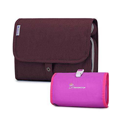Mardingtop Toilettas, voor dames en heren, B - fuchsia + briljant lila (2-pack) (violet) - LXM5929zihong+5997yanzise