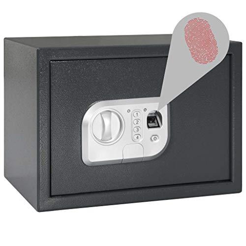 vidaXL Caja Fuerte Digital con Huella Seguridad Esconder par
