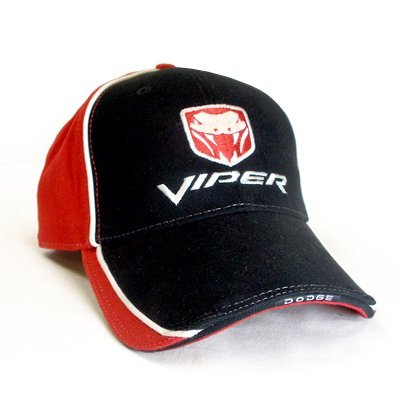 Dodge Viper Logo Red & Black Baseball Hat