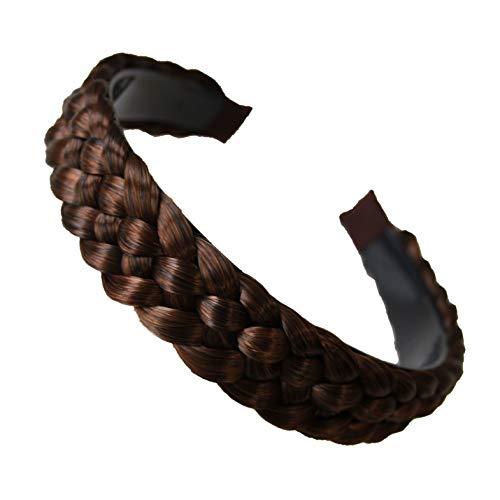 PRETTYSHOP Haarreifen Zopf Geflochten Haarteil Haarband Kopfschmuck Haarschmuck Braun Mix HR6