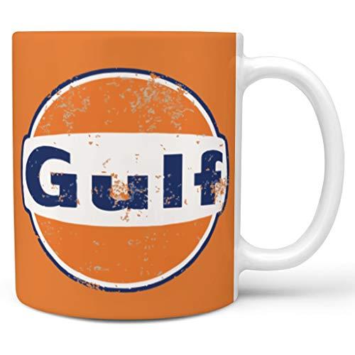 O5KFD & 8 11 OZ Golf, Retro Loopt dranken, cappuccino, mok met handgreep, glad keramiek, unieke beker, oranje blauw vrouwen tegenwoordig, geschikt voor familie