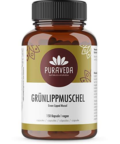 Grünlippmuschel 150 Kapseln - 1650 mg Grünlippmuschelpulver pro Tagesdosis - hochdosiert - GAG und Omega 3 - OHNE Magnesiumstearat - deutsche Manufakturabfüllung