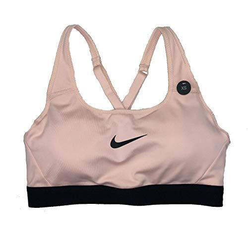 Nike Women's Dri-Fit Classic Sports Bra Peach Black CD7129-646 (M)