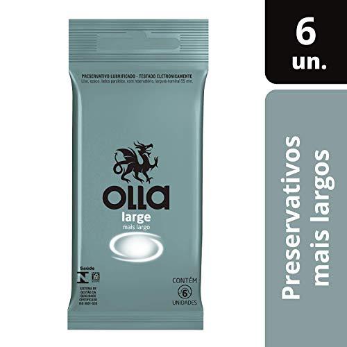 Preservativo Lubrificado Olla Large Camisinha 6 unidades, Olla, Large, pacote de 6